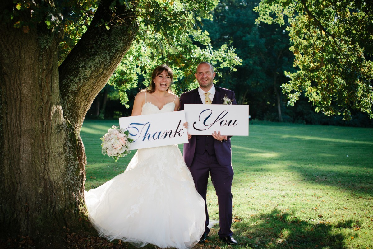 wedding etiquette thank you notes