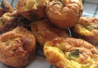 Double Gloucester Cheese, Broccoli & Egg Muffins